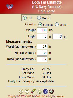 Body Fat (US Navy)