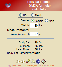 Body Fat (YMCA)