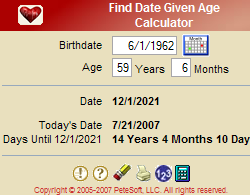 Find Date Given Age