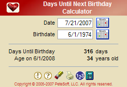 Days Until Next Birthday