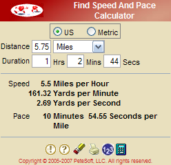 Find Speed And Pace