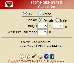Frame Size (Wrist)