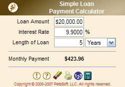 Simple Loan Payment