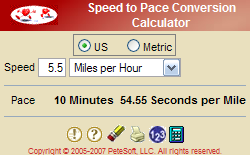Speed to Pace Conversion